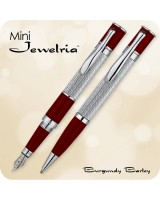Monteverde Mini Jewelria Fountain / Ballpoint Pen, Cobalt Blue & Burgundy