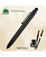 Monteverde One Touch Engage Ink·Ball with Stylus Pen, Carbon Fiber