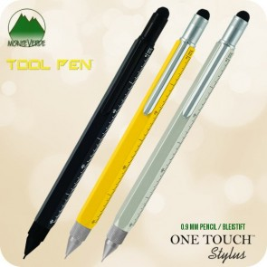 Monteverde One Touch 9 Tools Stylus Pencil, 0.9mm