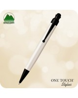 One Touch - Stylus Ballpoint Click Pen White, MV35334
