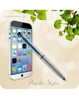 Poquito Touchscreen Phone Stylus Ballpoint Pen - Metallic Chrome