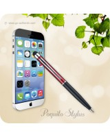 Poquito Touchscreen Phone Stylus Ballpoint Pen - Red Black