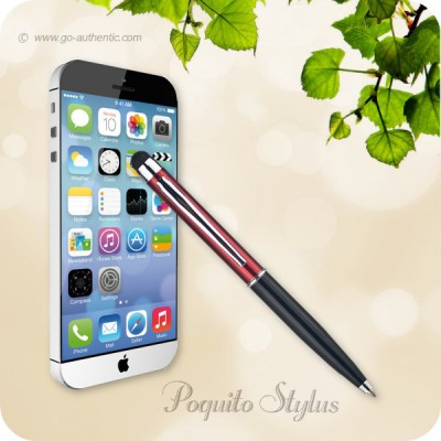 Monteverde Poquito Stylus Touchscreen Ballpoint Pen - Red Black