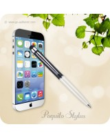 Poquito Touchscreen Phone Stylus Ballpoint Pen - Black White