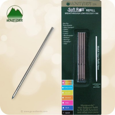 Monteverde Soft Roll D1 Mini Multi Ballpoint Refill D152 - Broad