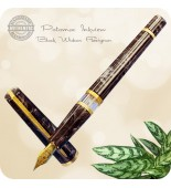 RLG Potomac Inkview Fountain Pen - Black Widow Flexigran