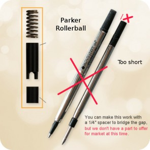 R2B - Rollerball to Ballpoint Pen Converter (Re-usable)
