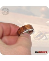 Wood Ring Bhilwara Rosewood 8mm Band Handcrafted