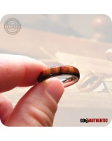 Wood Ring Chechen Rosewood on 5mm Comfort Band Handcrafted