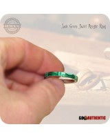 Acrylic Jade Green Ring - 3mm Band - Handcrafted Comfort Core