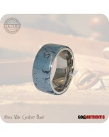 M3 Mokume Gane Ring 10mm Band - Handmade Cobaltium