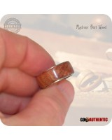 Madrone Burl Wood Ring 8mm Band Handcrafted