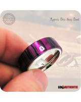 Acrylic Magenta Bliss Ring - 8mm Band - Handcrafted in Purple & Black