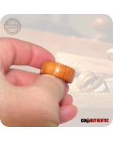 Wooden Ring 10mm Band - Handmade Pacific Yew Wood