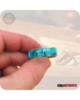 Acrylic Persian Blue Ring - 8mm Band - Handcrafted in Aqua Teal Blue