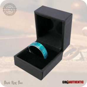 Persian Blue Acrylic Ring - 8mm Band - Handmade Fashion Rings