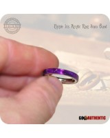 Acrylic Purple Iris Ring - 3mm Band - Handcrafted Comfort Core