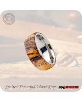 Spalted Tamarind Wood Ring 8mm Band Handcrafted
