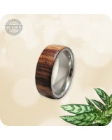 Wood Bhilwara Rosewood Ring - 8mm Band  | Size 10 US - Handcrafted
