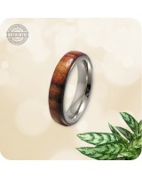 Wooden Chechen Wood Ring - 5mm Band  | Size 7 US - Handcrafted