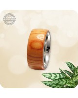 Wooden Pacific Yew Wood Ring - 10mm Band  | Size 10 US - Handcrafted