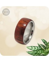 Wood Yucatan Rosewood Ring - 8mm Band  | Size 6 US - Handcrafted