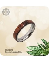 Wood Ring Yucatan Rosewood - 5mm Band  | Size 11 US - Handcrafted