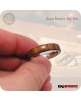 Wood Ring Yucatan Rosewood on 5mm Comfort Band Handcrafted