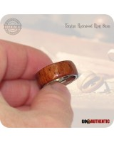 Yucatan Rosewood Wood Ring 8mm Band Handcrafted