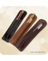 Leather Pen Pouch Economy - Fits All Sized Pens