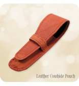 Premium Leather Pen Pouch - Small to Medium Sized Pens