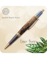 Elegant Sierra Ballpoint Click Pen, Handcrafted Spalted Maple Wood