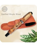 Spalted Maple Wood Handmade Rollerball Fountain Pen, El Presidente