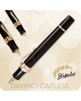 Stipula Davinci Capless Fountain Pen, Black ST58801