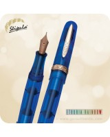 Stipula Etruria Rainbow LE Fountain Pen 14K Gold, Blue - ST49420