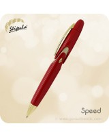 Stipula Speed Ballpoint Click Pen, Red - ST60010