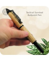 Survival Pen 3 Functions - Ballpoint, Fire Starter and Glass Breaker | Handmade Corn Cob