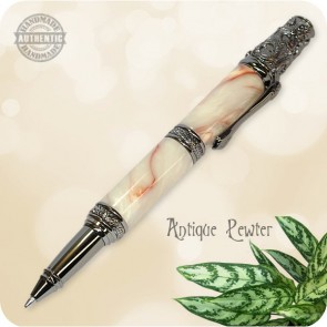 Victorian Ballpoint Twist Pen handcrafted Crushed Mud Acrylester