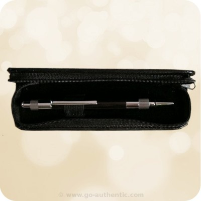 Black Zippered Pen Case - All Sized Pens
